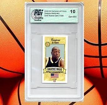 Amazoncom Dwyane Wade Campioni Rookie Card Pgi 10 1500