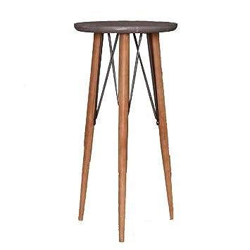 Nan Table A The Industrielle En Bois Moderne Petite Table Ronde En
