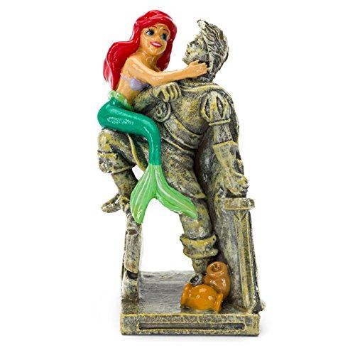 Penn-Plax Disney's Little Mermaid Ariel with Eric Statue Aquarium Ornament, Medium