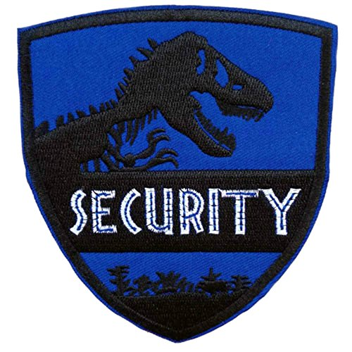 Outlander Gear Jurassic Park Blue Security Shield Embroidered Iron/Sew-on Applique Patches ()