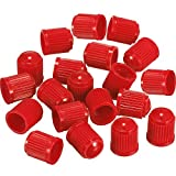 #10: Outus 20 Pack Tyre Valve Dust Caps for Car, Motorbike, Trucks, Bike, Bicycle (Red)