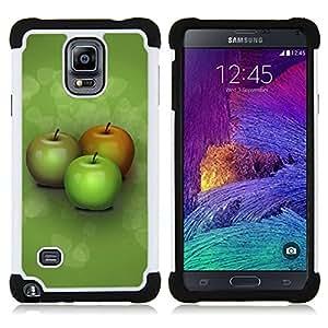 - Three apples/ H??brido 3in1 Deluxe Impreso duro Soft Alto Impacto caja de la armadura Defender - SHIMIN CAO - For Samsung Galaxy Note 4 SM-N910 N910