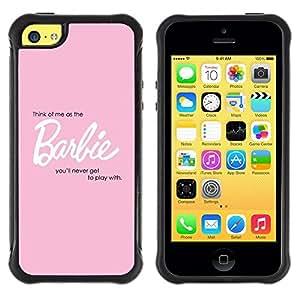 """Hypernova Defender Series TPU protection Cas Case Coque pour Apple iPhone 5C [Bebé de Juguete Niñas Doll Texto Cita Sexy""""]"""