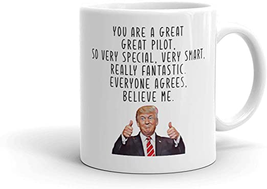 Trump Pilot Mug Pilot Gift Trump Great Pilot Coffee Mug Pilot Mug For Men