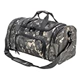 WolfWarriorX Military Tactical Duffle Bag, Large Storage Bag Luggage Duffle for Traveling, Gym, Vacation, Hiking & Trekking (Black Multicam) Review