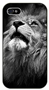 Case For Samsung Galaxy S3 i9300 Cover Magestic lion, black and white - black plastic case / Nature, Animals, Places Series