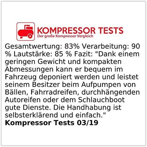 Pearl Kompakter Druckluft Kompressor Mit Manometer Für 12 V Buchse Auto