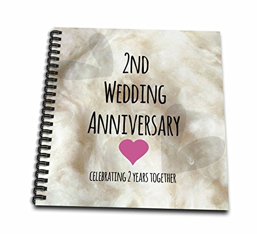 Online Wedding Anniversary Gifts: 3dRose Db_154429_1 2Nd Wedding Anniversary Gift Cotton