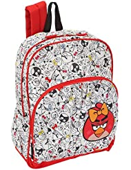 Angry Birds Female Red Bird 16 inch Backpack - White/Red
