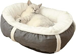 ADUEYE Suede Comfortable Soft Dog Bed Cat Litter Keeps Warm in Winter Removable and Washable Furniture