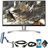 LG 27' 4K HDR FreeSync IPS Monitor (3840 x 2160 Resolution) with LX Desk Mount LCD Arm (Tall Pole)