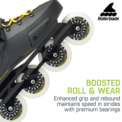 Rollerblade Twister Edge Men's Adult Fitness Inline Skate, Black and Yellow, High Performance Inline Skates by Rollerblade (Image #5)