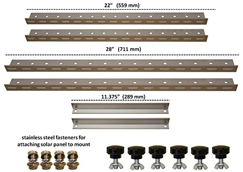 Amazon.com: Adjustable Solar Panel Mount Mounting Rack Bracket with ...