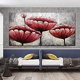Yotree 24x48 Inch Paintings,Red Wall Art Elegant