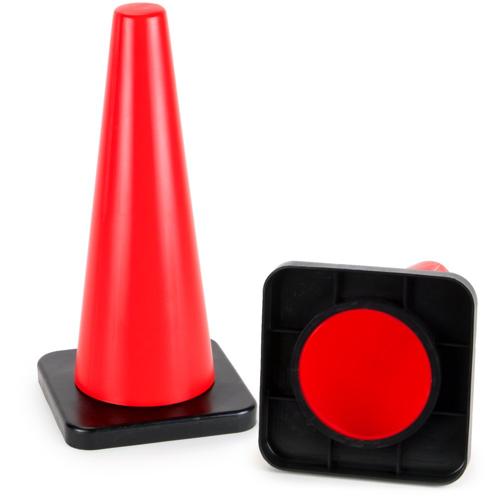 18'' High Hat Cones in Fluorescent Orange with Black Base for Indoor/Outdoor Traffic Work Area Safety Marker & Agility Sport Training by Bolthead Industrial (Single) by Bolthead Industrial (Image #3)