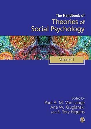 handbook of theories of social psychology van lange