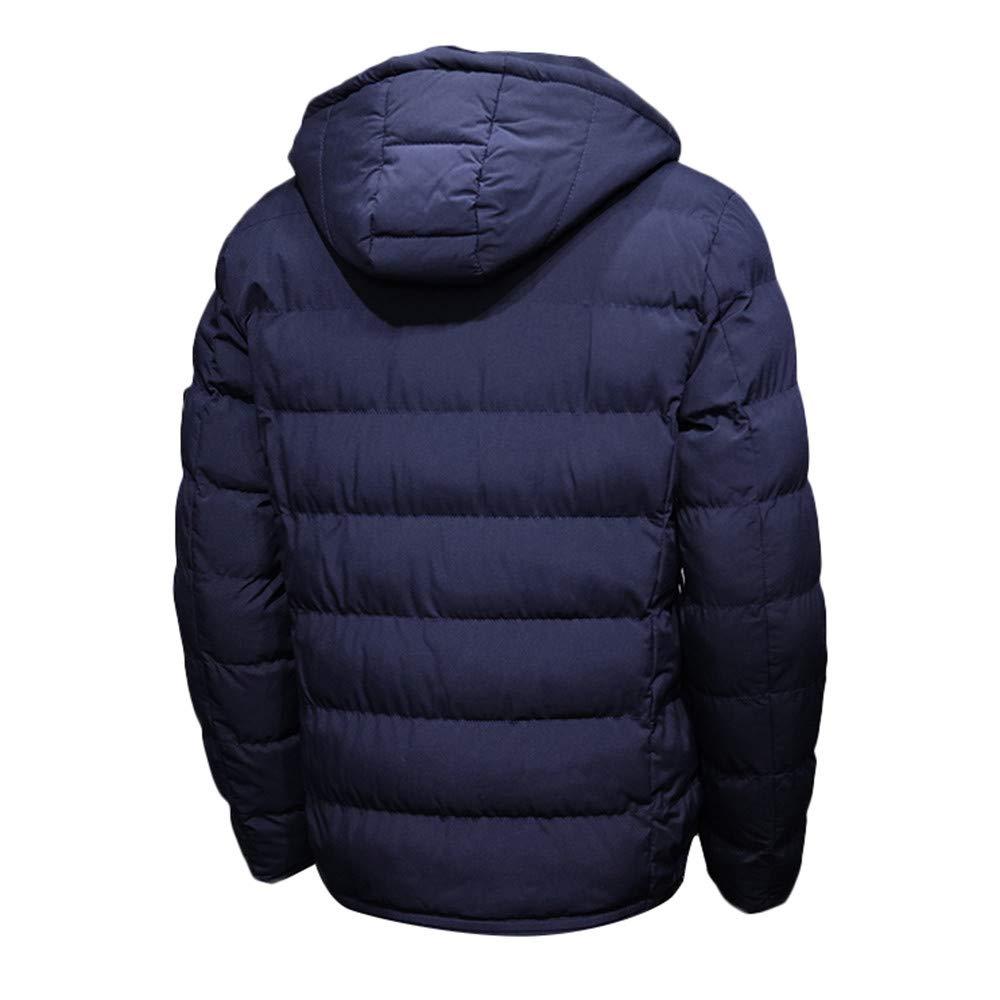 b905a095a51 Amazon.com  MODOQO Men s Puffer Down Coat Solid Cotton Lightweight Hoodies  Zipper Jacket  Clothing