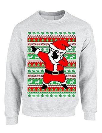 Allntrends Adult Crewneck Dabbing Santa Ugly Christmas Sweater at ...
