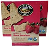 Bundle of 3 Nature's Path Organic Unfrosted Berry Strawberry Toaster Pastries