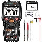 Tacklife-DM06-Multimetro digital completo, inteligente y automatico. Polimetro 6000 counts. NCV Identifica automáticamente la señal de medida. Voltimetro para Voltage, Corriente CA/DC