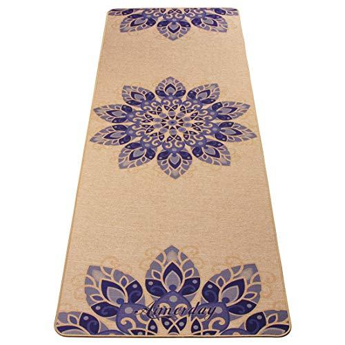 AIMERDAY Premium Natural Jute Yoga Mat Non Slip Eco-Friendly Non-Toxic Extra Thick 72