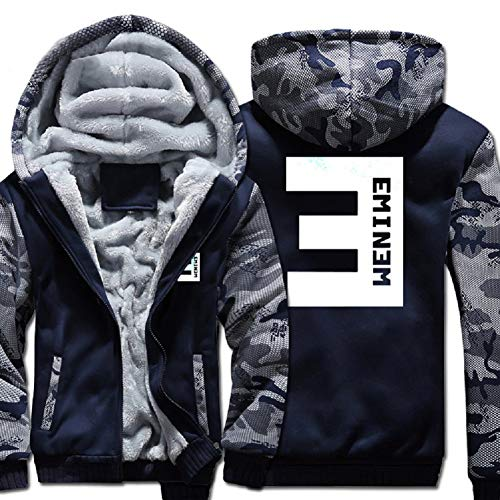 Xcostume Eminem Hoodie Hip-hop Musician Coat Thicken Casual Dress for Warm Winter by Xcostume