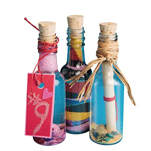 Plastic Sand Art Bottles with Cork (Pack of 24) -