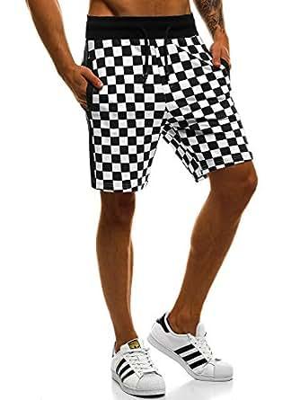 OZONEE Hombre Shorts Deportivos Jogg para Hombres Pantalones Cortos Bermudas Street Star 7126 m1t9hvlJS7