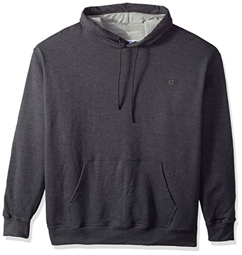 Champion Men's Powerblend Pullover Hoodie, Granite Heather, Medium