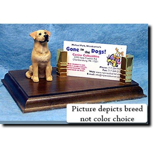 Labrador Retriever (Yellow) Business Card Holder (Labrador Business Card Holder)