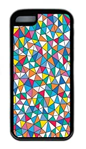 TYH - ipod Touch4 Case, geometric TPU Rubber Soft Case Back Cover for ipod Touch4 Black ending phone case