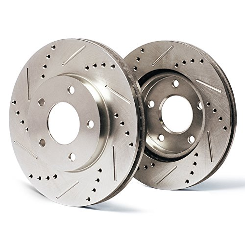 Front Premium Slotted & Drilled Rotors SY013631 | Fits: 2004 04 2005 05 Buick Rainier CXL or CXL Plus Models with 4.2L 6 Cylinder (4.2l 6 Cylinder Engine)