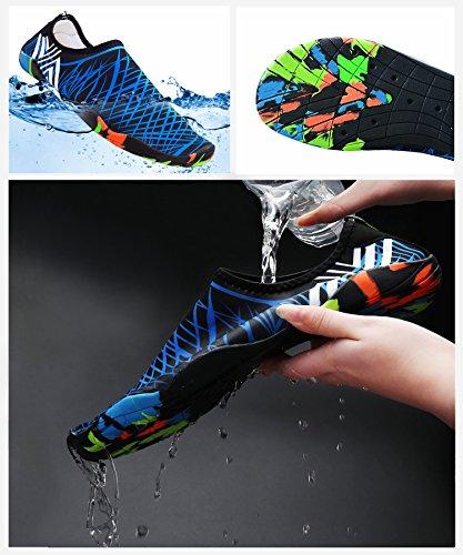 Pieds Shoes Yoga Rapide Surf Chaussures Drainage Hommes Bleu Aqua Water Pour Avec Schage Plage Lgres Bateau Sport Le Excise Lger Trous Nus 14 Nage De rxntw8qBfr