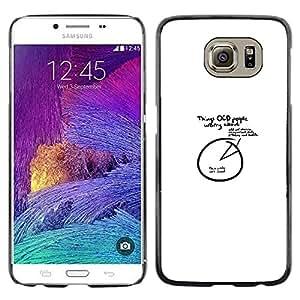 All Phone Most Case / Oferta Especial Duro Teléfono Inteligente PC Cáscara Funda Cubierta de proteccion Caso / Hard Case Samsung Galaxy S6 // OCD People