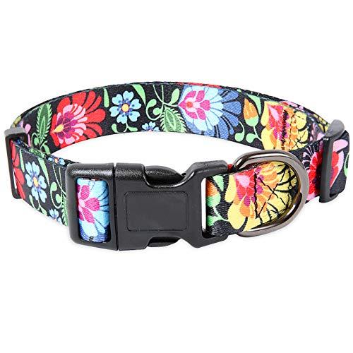 collar para perro ajustable con broche metal summer talle L