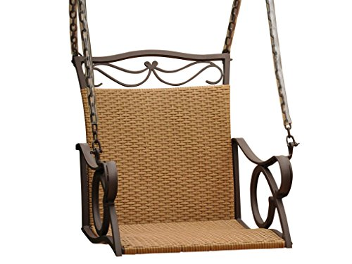 Valencia Outdoor Wicker Hanging Patio Swing