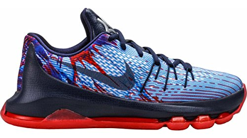 Nike Youth KD 8 Basketballschuh Mitternacht Marine / Bright Crimson / Weiß