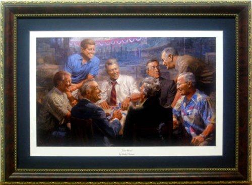 Democrat Presidents True Blues By Andy Thomas Framed Mini Print