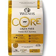 Wellness Core® Natural Grain Free Dry Cat Food, Indoor Chicken & Turkey Recipe, 11-Pound Bag