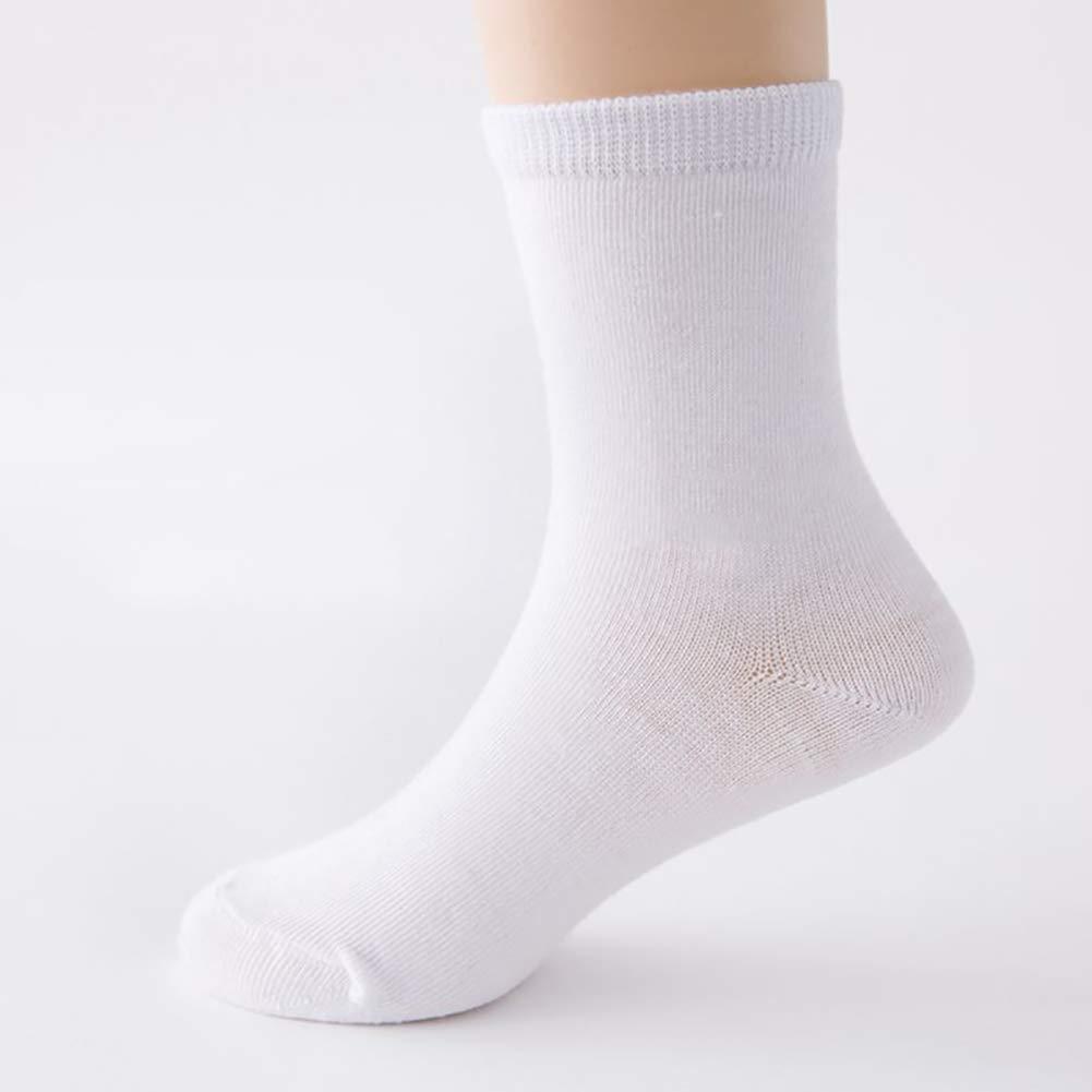 Children Autumn Spring Solid Color Cotton Soft Breathable Sports Socks bjlongyi