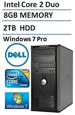 Dell Optiplex 780 SFF Business Desktop Computer (Intel Core 2 Duo Processor 3.0GHz), 8GB DDR3 RAM, 2TB HDD, DVDRW, Windows Professional (Certified Refurbished)