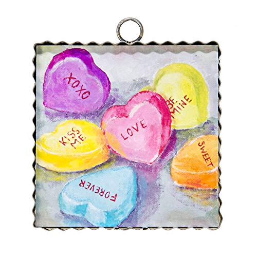The Round Top Collection - Hamilton Talking Hearts Wall Art - Metal & (Round Top Collection Metal Art)
