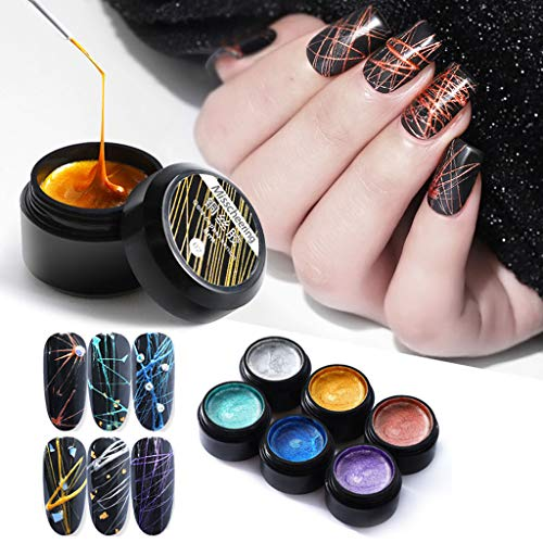 ( Nail Gel Clearance , Nail Spider Gel Set Matrix Gel Paint Design Nail Wire Drawing Nail Gel For Line by Little Story)