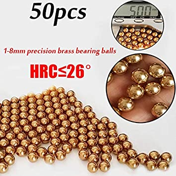 FidgetGear Bearing 50xEectrical Instrument Precision Copper Brass Ball Bearings Rolling Beads 1-8mm 4mm