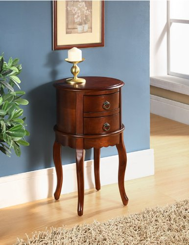 All Things Cedar Twin Drawer Round Hall Table