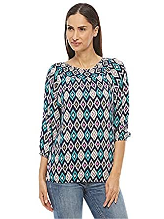 Veronica Multi Color Round Neck Blouse For Women