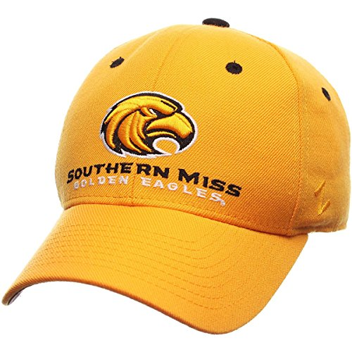 Zephyr Men's Southern Miss Golden Eagles DHS Zwool Fitted Hat Size: 7 Gold