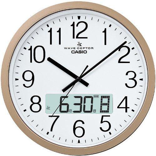 (カシオ計算機)CASIO クロック 大型 電波 壁掛け時計 IC-4100J-9JF デュアルタイム プロブラム チャイム シャンパンゴールド アナログ B013QXW27G