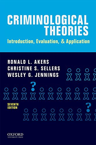 190455160 - Criminological Theories: Introduction, Evaluation, and Application