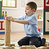 "Melissa & Doug Standard Unit Solid-Wood Building Blocks with Wooden Storage Crate, Developmental Toy, 60 pieces, 5.25"" H x 12.5"" W x 15"" L"